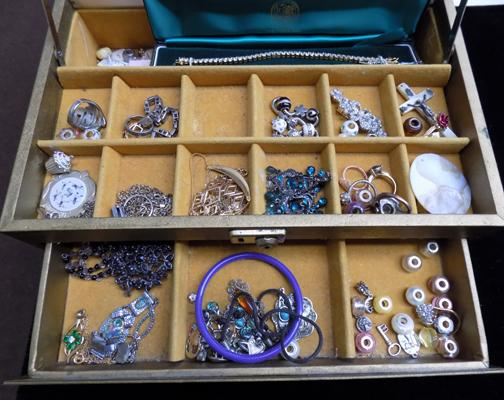 Jewellery box full of costume jewellery