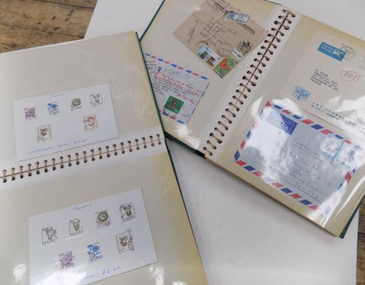 2 stamp and 1st day covers albums