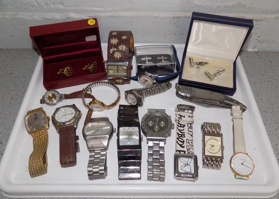 Collection of watches & cufflinks