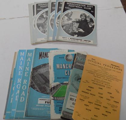 30 plus Manchester City programmes 1955 to 1973