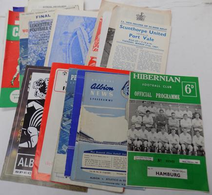 29 1950's onward , programmes, cup finals, Internationals and reserves