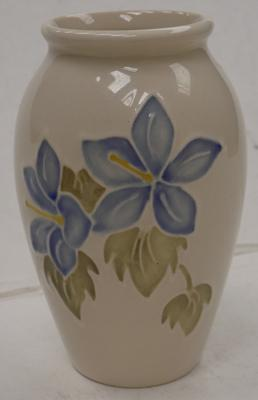 "Moorcroft campanula pot approx"" good condition. Approx 4"" high"
