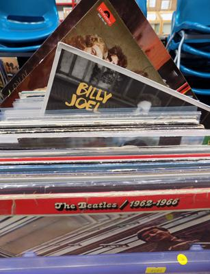 Box of records incl. 60's, 70's, 80's rock and pop