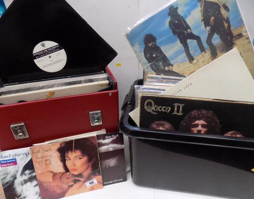 2 boxes of records incl. 60's, 70's, 80's rock and pop