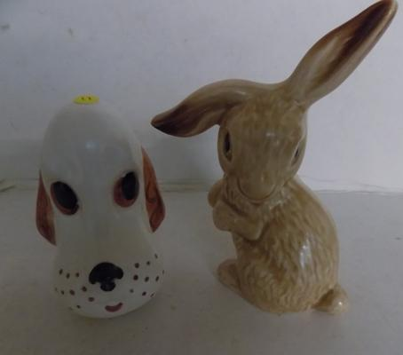 "Sylvac ""Funnies"" Spaniel No3422 and Rabbit No1302"