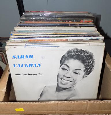 Large box of LP records