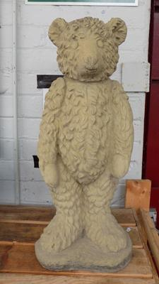 Garden teddy bear statue 65cm tall- slight damage to base
