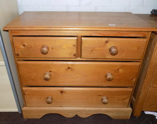 2 over 2 chest of drawers Pine
