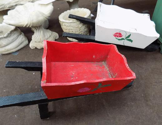 2x Novelty wheelbarrows