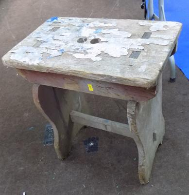 Old wood stool