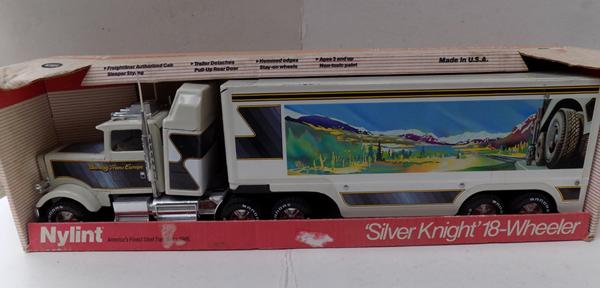 Silver Knight 18 wheeler toy truck -boxed