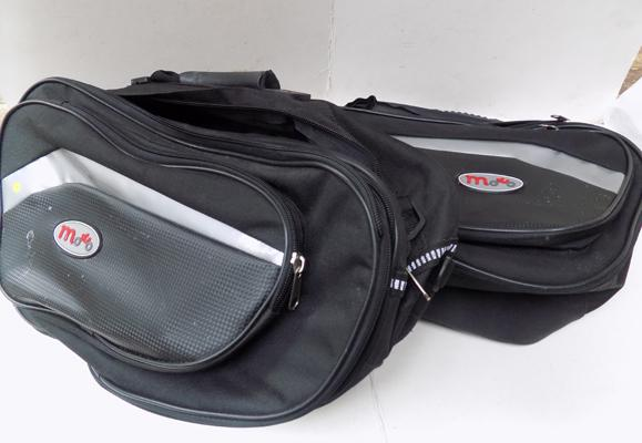 Set of motorbike saddlebags