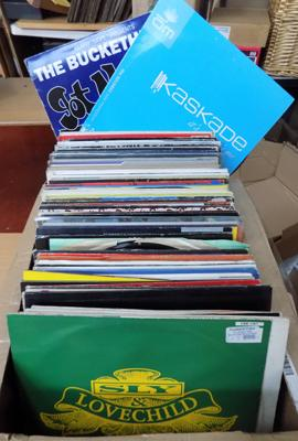 Large box of records - mainly dance 12""