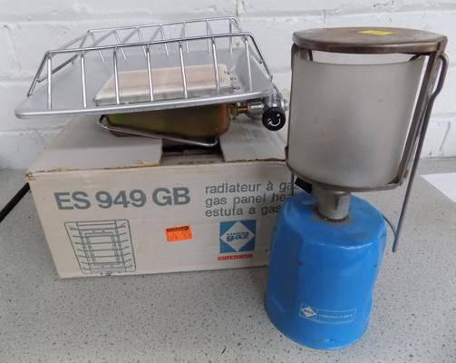 Gaz camping lamp & brand new heater