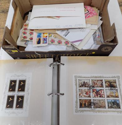 Album and box of stamps