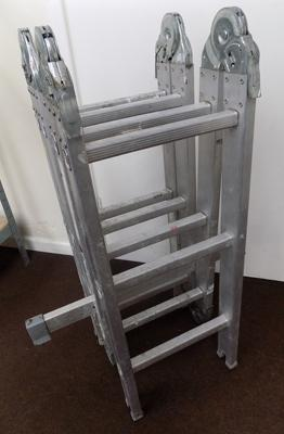 Set of fold up ladders