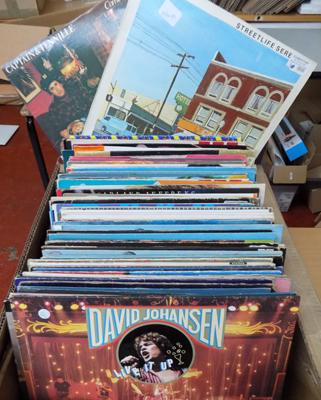 Large box of mixed LP records