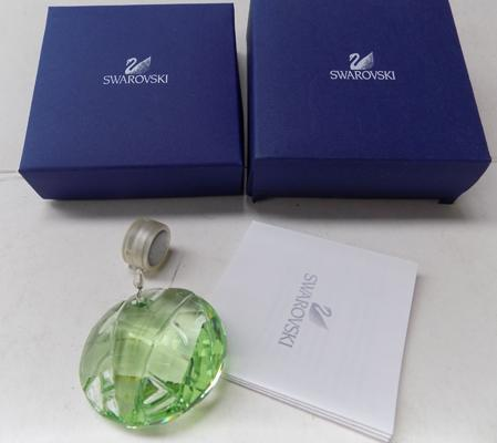 Swarovski green window crystal