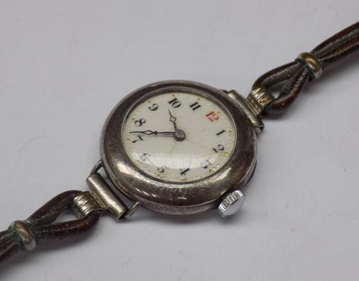 Sterling silver wrist watch-w/o