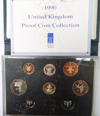 1990 UK proof coin set collection