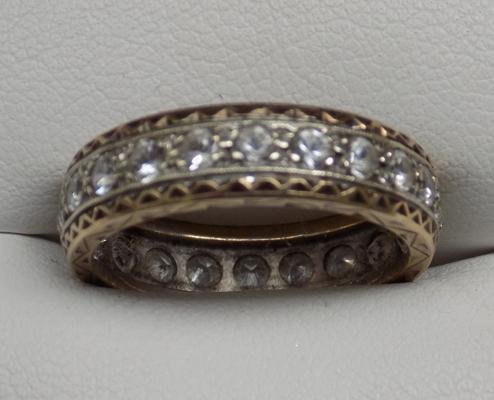 9ct full eternity ring approx size P