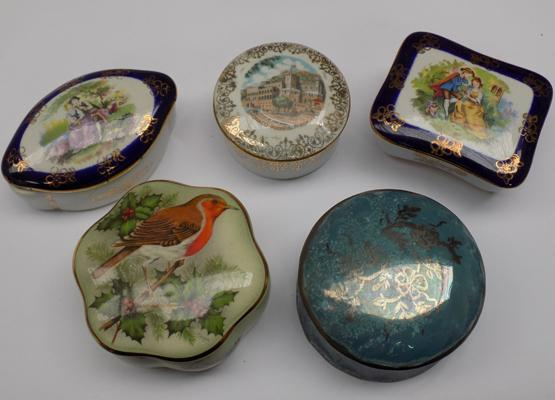 Selection of trinket boxes