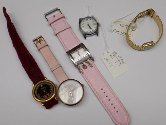 5x Ladies watches inc 17 jewel watch