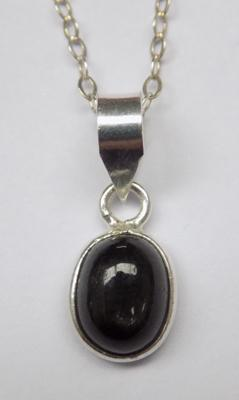 925 TGGC Silver & Blackstar diopside necklace