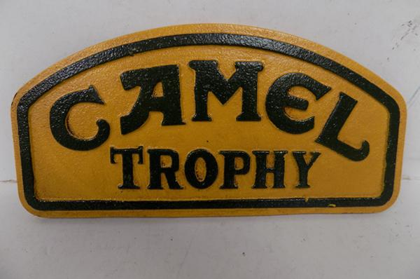 Cast iron small camel trophy sign