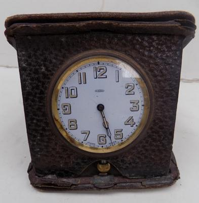 Vintage 1930's 8 day swiss made, travel clock