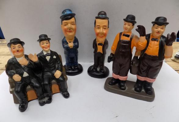 Selection of Laurel & Hardy ceramic figures (x3)