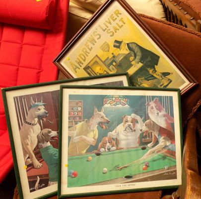 Three framed vintage prints, incl. Andrew's Liver Salts