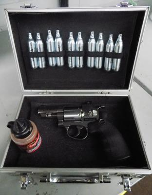 CO2 Dan Wesson Revolver with 10 bottle refills & pellets