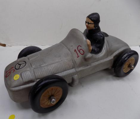 "Large model car - 1920's Mercedes racer - 12"" long"