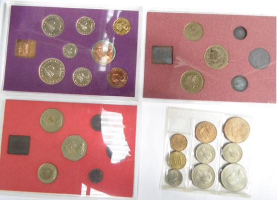 Collection of Royal mint coins sets 1973-1970-1979 & 1953