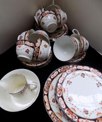Antique tea-set c1910, bone China - 36 pieces