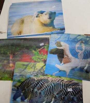 Selection of 13 animal 3D picture/ placeemats