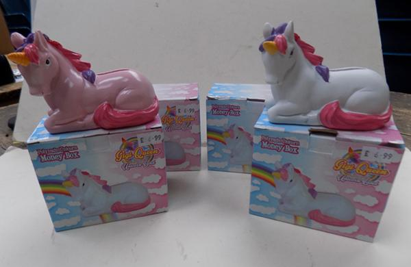 4 new unicorn money boxes