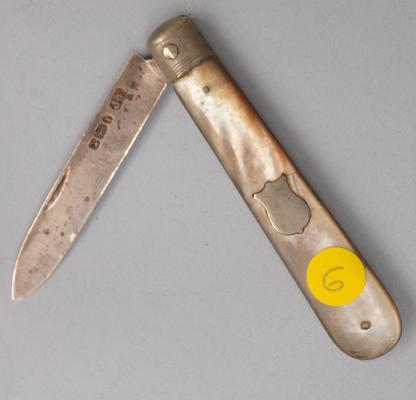 Silver Mother of Pearl fruit knife