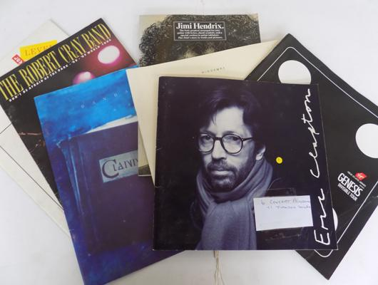 6 concert programmes and song book Clapton/ Hendrix