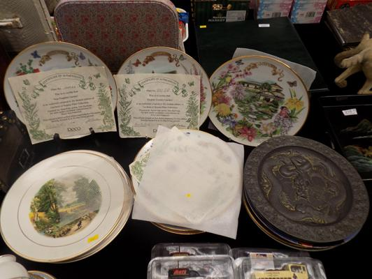 Selection of plates inc some with certificates