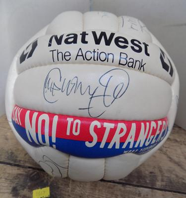 Genuine 90's signed Leeds United football