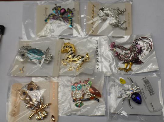 Selection of new animal brooches