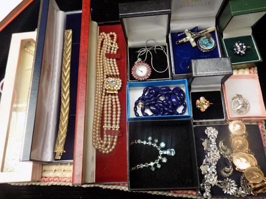 Tray of mixed boxed costume jewellery