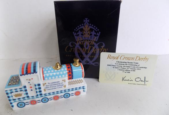 Royal Crown Derby Prince George steam train Ltd. Edition 77/500 - these don't come with a stopper