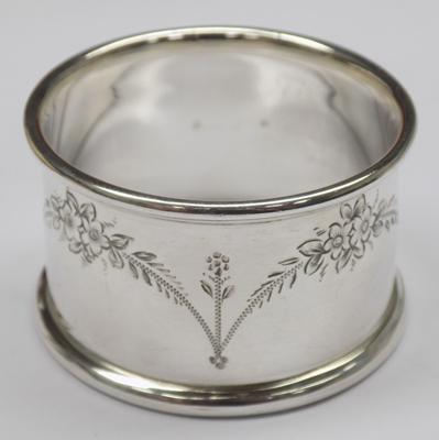 Antique solid silver napkin ring - Birmingham circa 1910