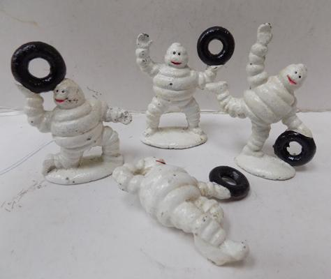 4 Michelin men with tyres - small