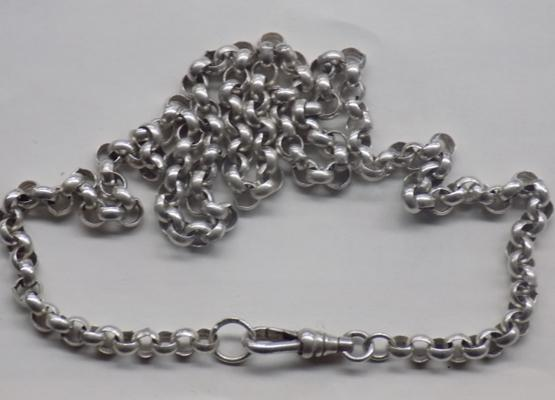 "925 silver belcher chain, approx. 18"" long"