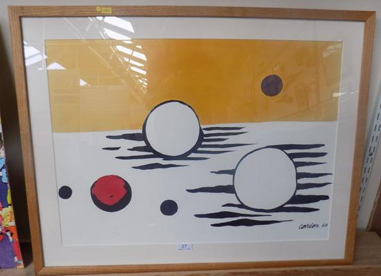 "Framed picture by Calder.66, approx. 31"" x 25"""