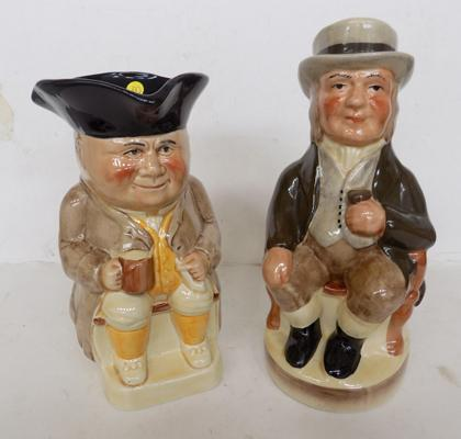 2 Tony Wood Staffordshire toby jugs